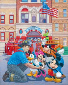 Engine 55 - Art and Paintings by Artists Wyland, James Coleman, Rodel Gonzalez, Dan Mackin,