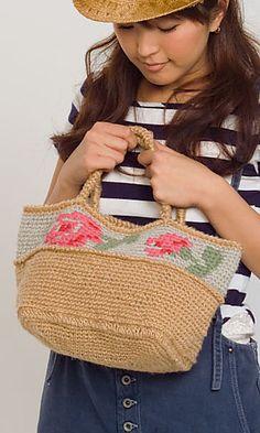 crochet tapestry pattern, crochet flowers, tapestry crochet chart, rose bag, crochet purs, crochet bag, crochet patterns, bag patterns, bags