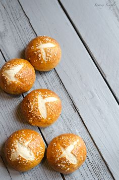 Perfect Chewy Pretzel Buns by Savory Simple