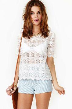 Scalloped Crochet Top