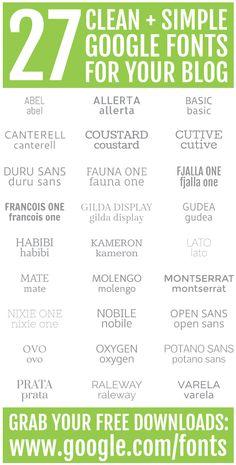 best google fonts for blogs. - {long distance loving}