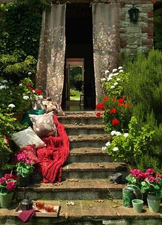 secret gardens, stairway, dream, door, afternoon tea, place, garden stairs, flower, shabby chic garden