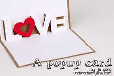 LOVE - a pop up card {free download}