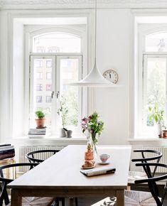 Long table, chairs, windows - DustJacket Attic