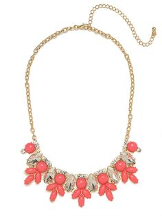 Cerise Marquise Bloom Bib - Necklaces - Categories - Shop Jewelry   BaubleBar