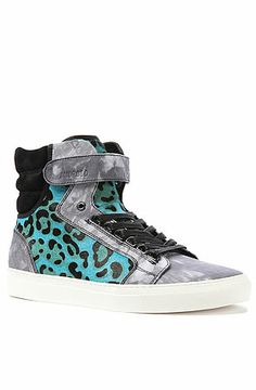 The Propulsion 1.5 Sneaker in Blue Denim Cheetah