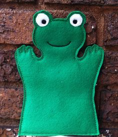 Frog  Pond Set  Animal Felt Hand Puppet by ThatsSewPersonal, $10.00