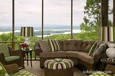 A great design for a great view; an outdoor room by Tobi Fairley