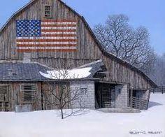 Love the American flag mural