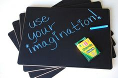 chalkboard placemats (set of 4) $33