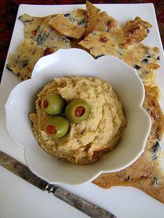 Green Olive Pimento Hummus