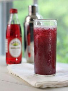 Vampire's Dream: rum, pineapple and cranberry juice with a splash of grenadine. YUM.