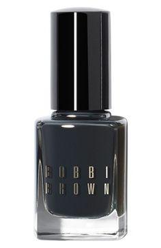 A smoky black polish ... #love. {Bobbi Brown Tuxedo Black, $18}
