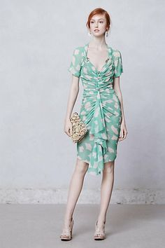 Gingko Ruched Sheath #anthropologie  Straight up Mad Men style...