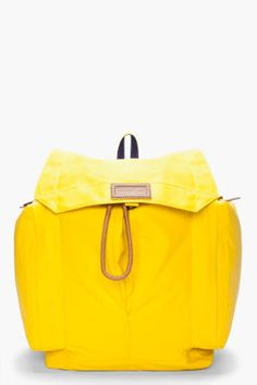 MARC BY MARC JACOBS Yellow Hackey Sac Backpack