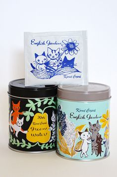 Karel Capek tea shop in Tokyo (the cutest! I want to design packaging like this!)