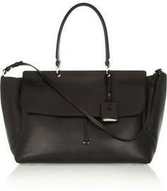 Jil Sander New Needle leather trapeze bag on shopstyle.com
