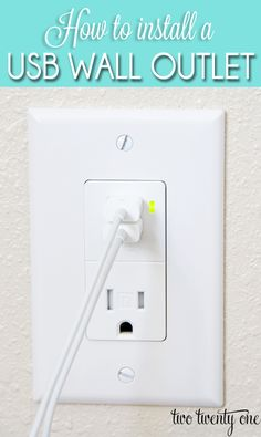 How to install a USB wall outlet.