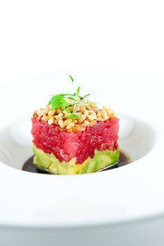 Perfect to make at home for date night? // Ahi Tuna Tartare w/ Avocado, Crispy Shallots & Soy-Sesame Dressing- yummy!
