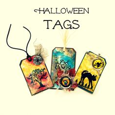Spooky Halloween tags for tricks and treats!