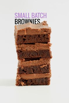 Classic Fudge Brownies with Milk Chocolate Frosting - small batch