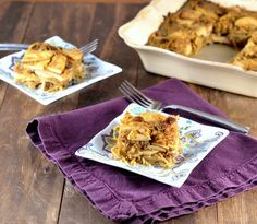 Sweet Spaghetti Squash Kugel with Apples and Raisins for #Passover. #glutenfree #dairyfree