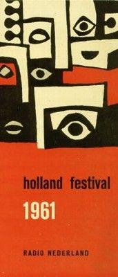 Holland festival 1961  sketchDick Elffers  inventory number 11777  keeperBijzondere Collecties Universiteit Amsterdam  subcollectionDick Elffers  object typebrochure  competencehoogdruk  period1961 - 1961  measurement105 x 237 cm