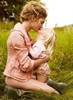 Except for her being half naked. Love this idea for mother-daughter photo.