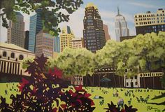 By Mike Rohner bryant park, park artwork, park nyc