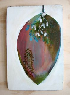 Collected Within (art on wood)  by Tiel Seivl-Keevers