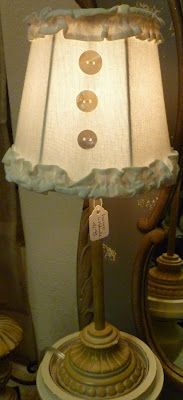 add ruffles and buttons to cute up a lamp shade