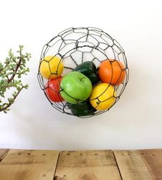 Sphere Wire Wall Basket by CharestStudios on Scoutmob Shoppe