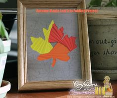 Autumn Maple Leaf Iris Folding Project – #TBCCrafters