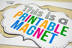 Education to the Core: Using Printable Magnetic Paper In Your Classroom.  Great for letters!