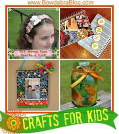 Love all of these kid crafts! These would be great for birthday parties, VBS, Girl Scouts and more!