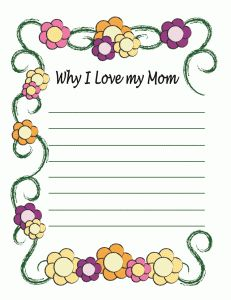 Mother's Day note