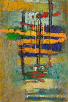 Rick Stevens 36-12, Continuous Stream, oil on canvas, 30 x 20
