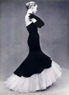 I found Beautiful Dior Black & White Vintage Gown on Wish, check it out!
