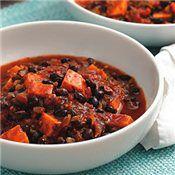 Sweet Potato & Black Bean Chili, Recipe