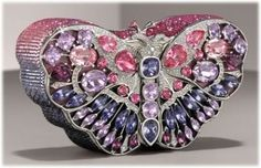 A beautiful butterfly clutch. I love unique purses and handbags!