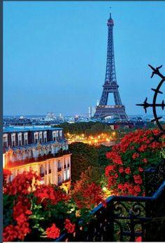 paris, tower, dream, balcony garden, france, summer nights, travel, place, bucket lists