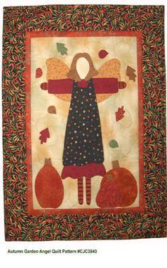 Autumn Garden Angel quilt pattern by Castilleja Cotton