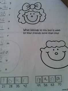 Unintentionally Inappropriate Test Responses From Children   Happy Place