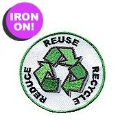 Reduce, Reuse and Recycle Fun Patch - Girl Scout Fun Patches - PatchFun.com