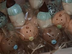 Baby Faces with Baby Bottle Cake Pops