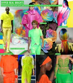 HYPER-REAL BRIGHTS colors for Spring / Summer 2013 by Trendstop . Colores brillantes hiper-realistas para la temporada primavera verano 2013 por Trendstop