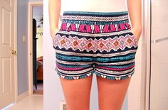 pattern, colorful shorts!