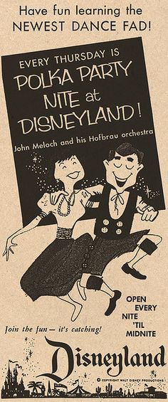 Disneyland, 1957.