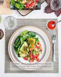 Cafe Johnsonia: Citrus, Avocado and Quinoa Salad with Cilantro-Lime Vinaigrette