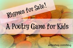A fun game to help kids learn rhyme patterns and build rhyming poems
